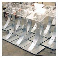 Art culos met licos acero inoxidable muebles reciclados - Pedestales para macetas ...